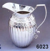 metal jug with design