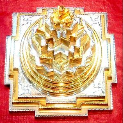Glod Plated Meru Shree Yantra