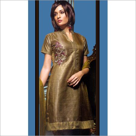 Antique Golden Designer Salwar Kameez