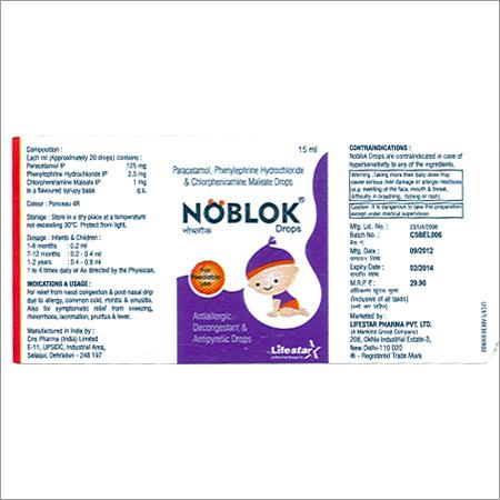 Pharmaceutical Label