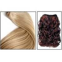 Machine weft  wavy Color hair