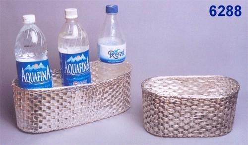 Metal Basket With Handwork