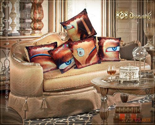 Designer Buddha Cushions set. Digital Prints on velvet.