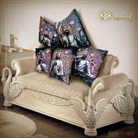 Buddha Cushion covers set of 5. Digital Prints on velvet.