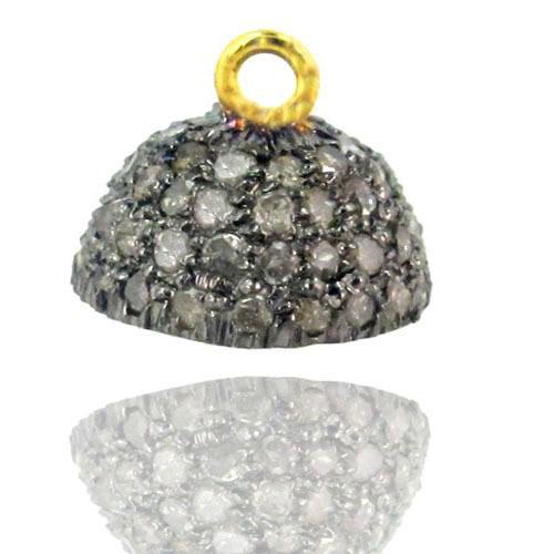 Pave Diamond Gold Beads