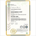 Nova ISO Certificate Company