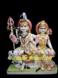 Makrana Marble Shiv Parvati Statue