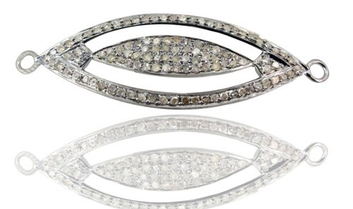 Diamond Silver Connector Jewelry