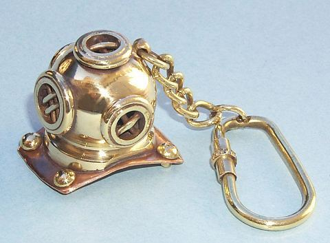Diving Helmet Key Chain
