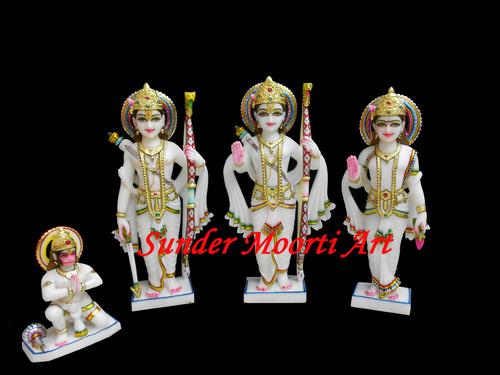 White Marble Statue of Ram Laxman Sita ji