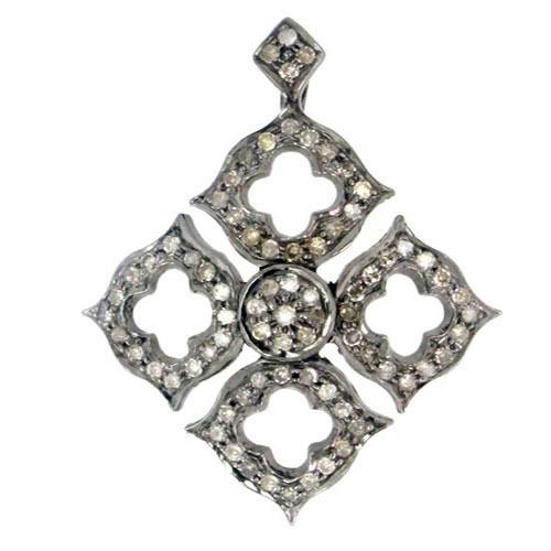 Diamond Pave Designer Charms Pendant