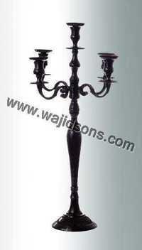 black aluminum candelabra