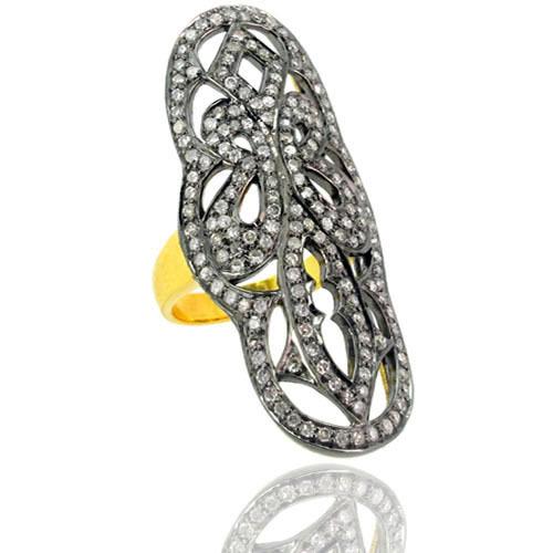 Diamond Full Finger Ring