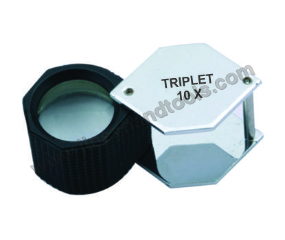 18mm Hex. Loupe Plastic Body Crome 10X
