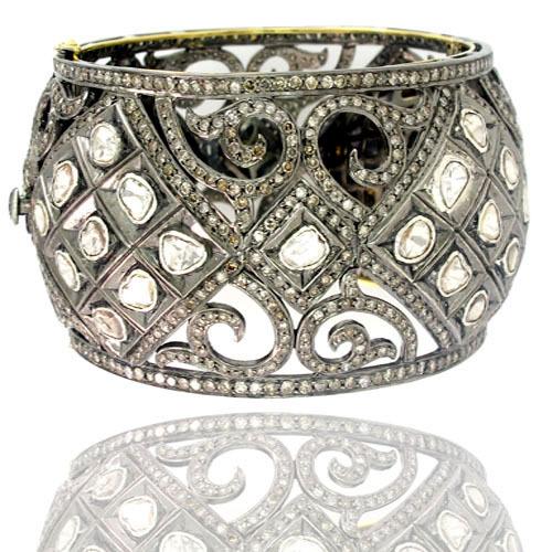 Rosecut Diamond Pave Bangle Jewelry