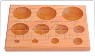 Wood Dapping Block  11 KVT  Round Shape
