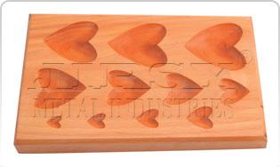 Wood Dapping Block  11 KVT  Heart Shape