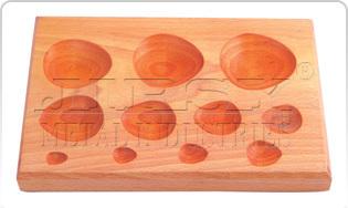 Wood Dapping Block  11 KVT  Tear Drop Shape