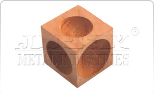 """Wood Doming Block 2"""" X 2"""" With 2 Pcs. Punch"""