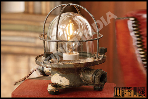 Phenomenal Vintage Recycled Table Ship Lamp Vintage Recycled Table Interior Design Ideas Clesiryabchikinfo