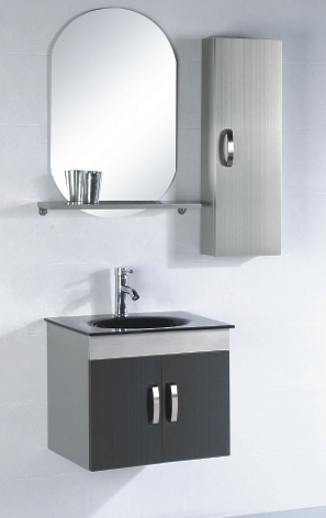 Stainless Steel (304,201) Cabinet with Ceramic Counter