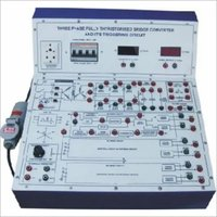 Three Phase Fully Controlled Thyristorized Bridge ConverterWith Triggering Circuit