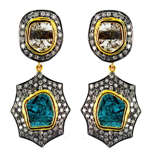 Gold Slice Diamond Earrings