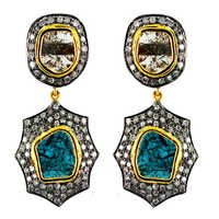 Gold Slice Diamond Earrings