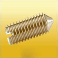 Cone Point Slotted Set Screw