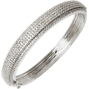 Multi Row Micro Pave Diamond Studded Gold Bracelet
