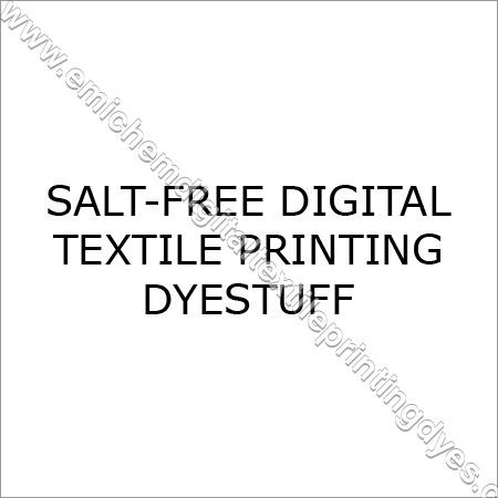 Salt Free Digital Textile Printing Dyestuff