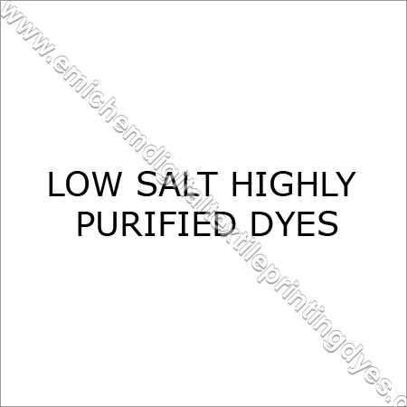 Low Salt Highly Purified Dyes