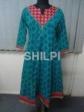 Cotton Printed with embroidery Kurti