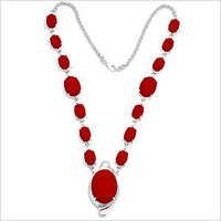 Synthetic Red Coral Necklace