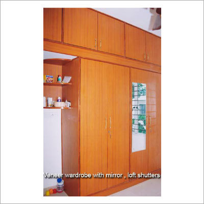 Wood Veneer Sliding Wardrobe