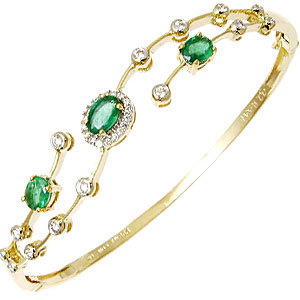 Delicate Design Precious Gemstone Gold Bracelet