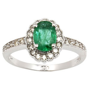 Emerald Ring Costume Jewellery