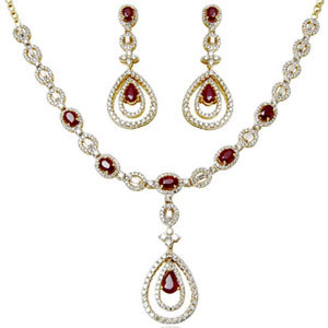 diamond and ruby jewelry sets, real ruby jewelry, natural ruby jewelry