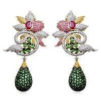 Emerald Necklace Costume Jewelry, Emerald Costume