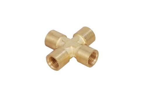 Brass 4 Way Female