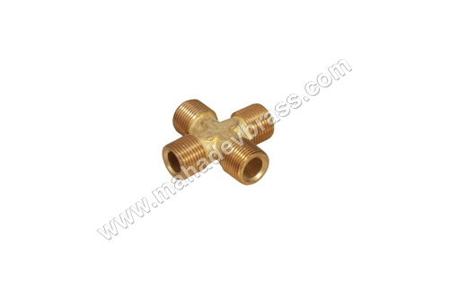 Brass 4 way Male Connector