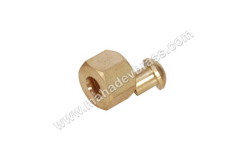 Brass Solder Nut Nipple