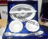 Silver Plated Tray Bowl & Spoon Set