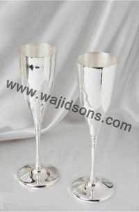 Silver Plated Drink Glass Set