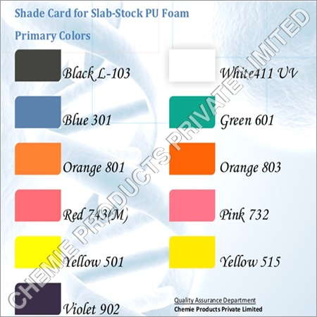 Pigments for PU Foam