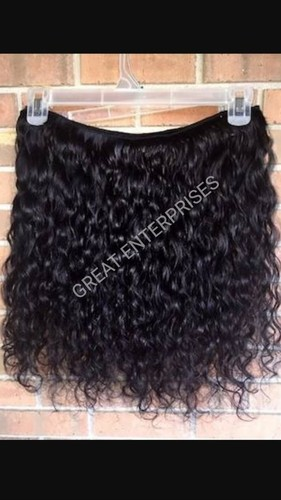 Machine Curly Weft Hair