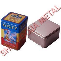 Square Tin Container
