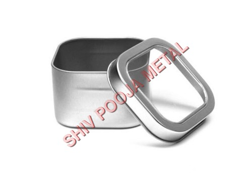Tin Container with Cap
