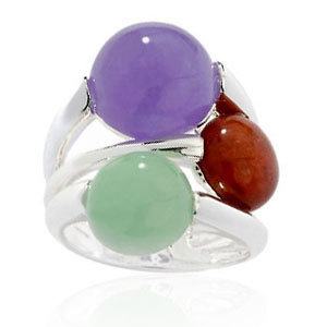 Opal  925 sterling silver ring with opal silver ri