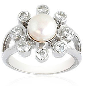 925 silver original pearl ring 925 sterling silver rings with pearl emerald pearl silver ring